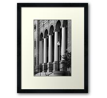 Courthouse Columns Framed Print