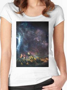 Space Ship Women's Fitted Scoop T-Shirt