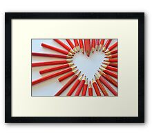 To the heart Framed Print