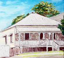 Highgate Hill Queenslander by gillsart