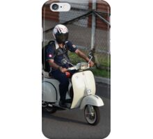 man riding scooter iPhone Case/Skin