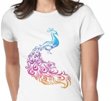 Colourfull Bird Womens Fitted T-Shirt