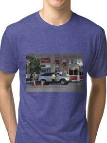 shell gas station Tri-blend T-Shirt