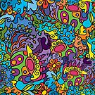 Psychedelic LSD Trip Ornament 0001 by Andrei Verner