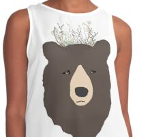 Bear with Flower Crown Contrast Tank