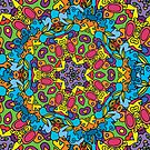 Psychedelic LSD Trip Ornament 0003 by Andrei Verner
