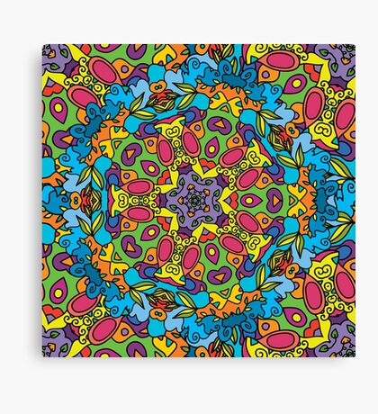 Psychedelic LSD Trip Ornament 0003 Canvas Print