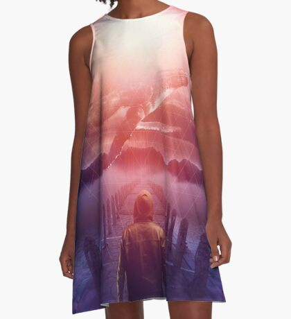 The Space Between Dreams and Reality A-Line Dress