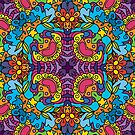 Psychedelic LSD Trip Ornament 0004 by Andrei Verner