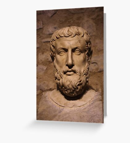 Portrait Of Parmenides Greeting Card
