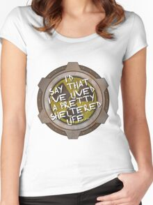 I've been sheltered in a nuclear fallout bunker geek Women's Fitted Scoop T-Shirt