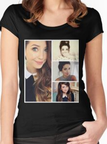 Zoella collage Women's Fitted Scoop T-Shirt