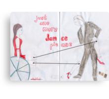 Wheelchair Tango Canvas Print