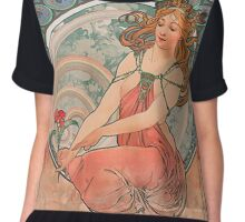 Alphonse Mucha - The Art  Series Chiffon Top