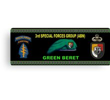 3rd Special Forces Group (Abn) Mug Design Canvas Print