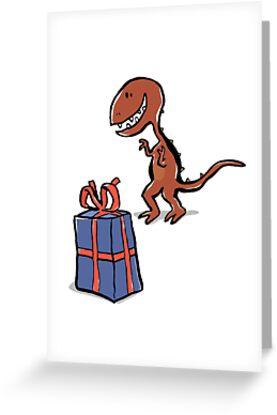 happy dinosaur by greendeer