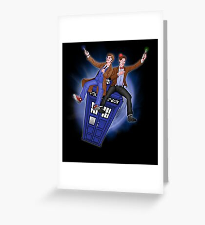 THE DOCTOR'S TIMEY-WIMEY ADVENTURE  Greeting Card