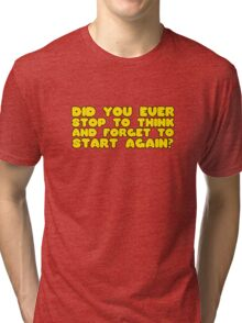 Winnie The Pooh Funny Quote Cool Cartoon Clever  Tri-blend T-Shirt