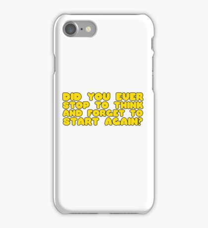 Winnie The Pooh Funny Quote Cool Cartoon Clever  iPhone Case/Skin