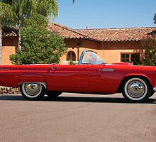 1956 Ford Thunderbird 'Profile in Red' by DaveKoontz