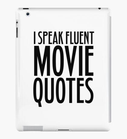 Movie Quotes Funny Cool Random Film Buff iPad Case/Skin