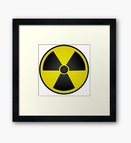Radioactive Fallout Symbol Nerd Framed Print