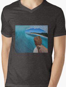 Surfer in the Tube Mens V-Neck T-Shirt
