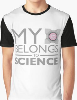 My Heart Belongs to Science ~ Companion Cube Graphic T-Shirt
