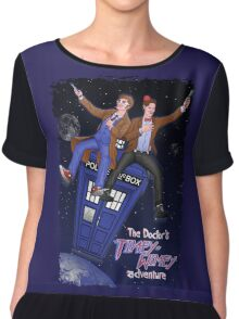 THE DOCTOR'S TIMEY-WIMEY ADVENTURE  (full cover) Chiffon Top