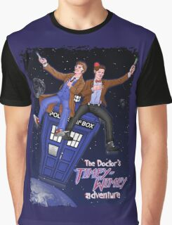 THE DOCTOR'S TIMEY-WIMEY ADVENTURE  (full cover) Graphic T-Shirt