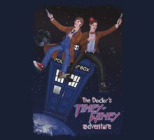 THE DOCTOR'S TIMEY-WIMEY ADVENTURE  (full cover) Kids Tee