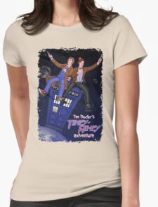 THE DOCTOR'S TIMEY-WIMEY ADVENTURE  (full cover) Womens Fitted T-Shirt