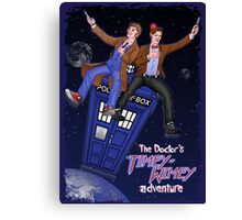THE DOCTOR'S TIMEY-WIMEY ADVENTURE  (full cover) Canvas Print