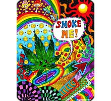 Smoke Me Cartoon Leaf Photographic Print