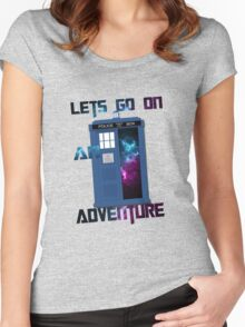 TARDIS-Let's go on an adventure #2 Women's Fitted Scoop T-Shirt