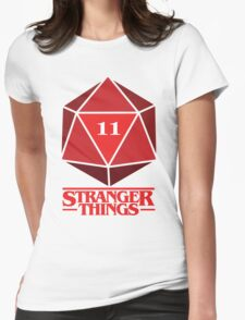 Stranger Things Dice Eleven Womens Fitted T-Shirt