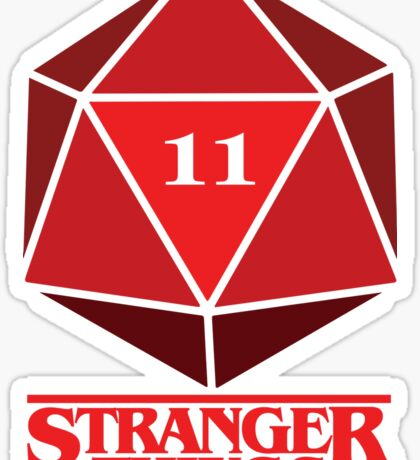 Stranger Things Dice Eleven Sticker