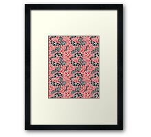 Graphic pattern and abstraction flowers Framed Print