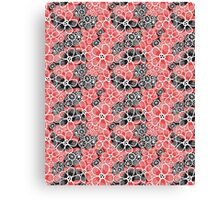 Graphic pattern and abstraction flowers Canvas Print