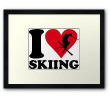 I love skiing Framed Print