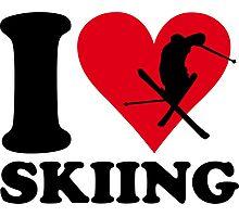 I love skiing Photographic Print