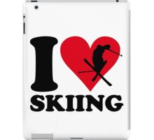 I love skiing iPad Case/Skin
