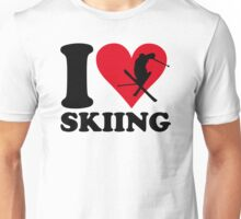I love skiing Unisex T-Shirt