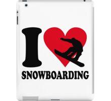 I love Snowboarding iPad Case/Skin