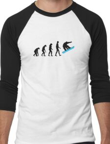 Evolution Snowboard Men's Baseball ¾ T-Shirt