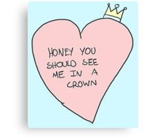 my crown Canvas Print
