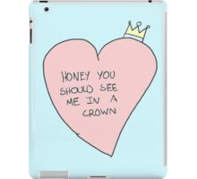 my crown iPad Case/Skin