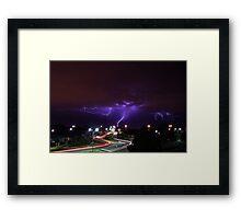 Summer Lightning Perth Framed Print