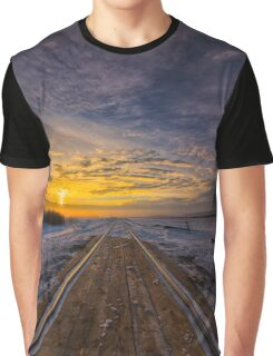 Dawn At The Tracks Graphic T-Shirt