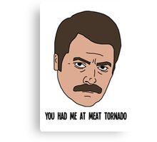 Ron Swanson - Meat Tornado Canvas Print